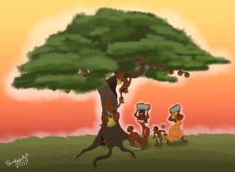 The African Tribe and the Fruit Tree by Sukalartoons