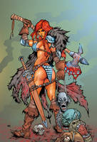 Red Sonja by roncolors