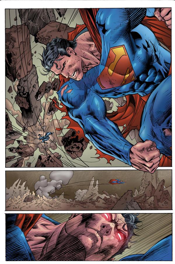Jim Lee Superman by roncolors