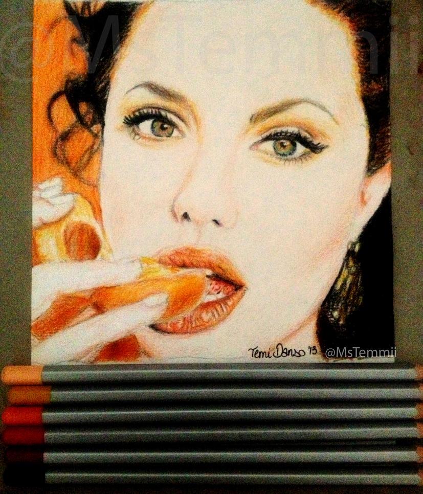 Angelina Jolie by MsTemmii