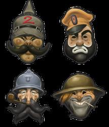 Propaganda-styled masks by AngusBurgers