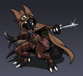 Nilbog - Pathfinder Kobold Character by AngusBurgers