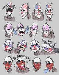 payday but the masks have emotions