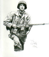 World War 2 US Soldier by AngusBurgers