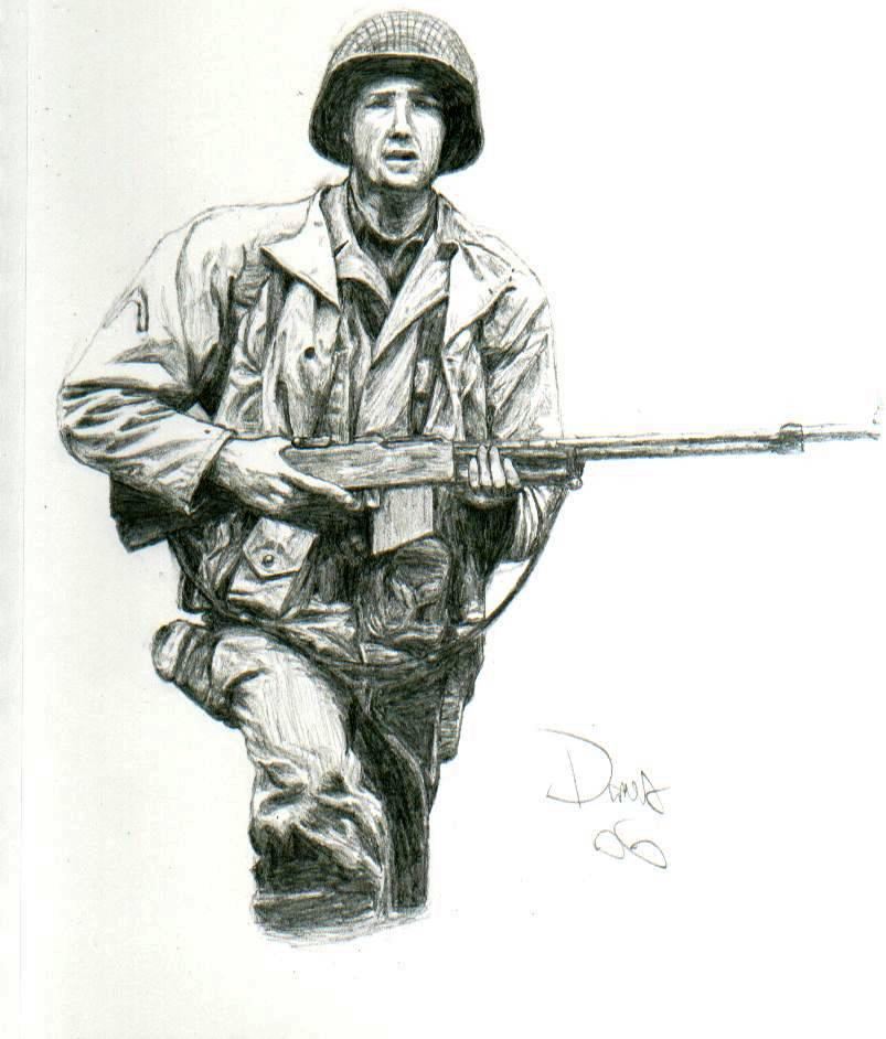 World War 2 US Soldier by AngusMcLeod