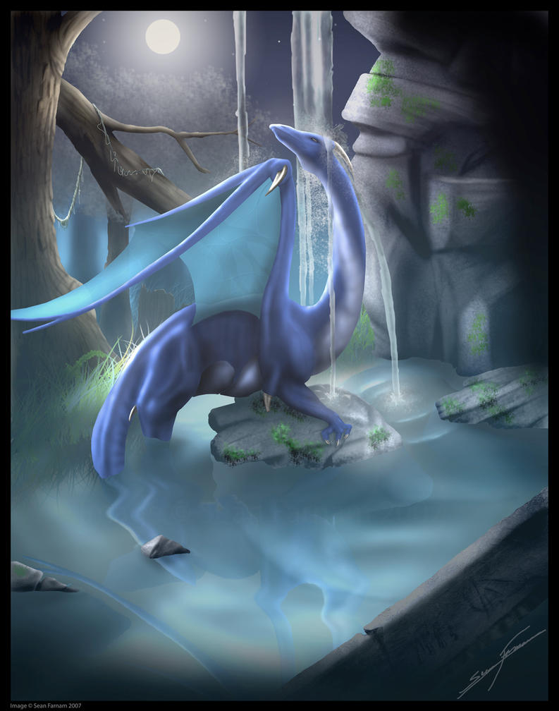 Dragons of the Waterfalls by SeanFarnam