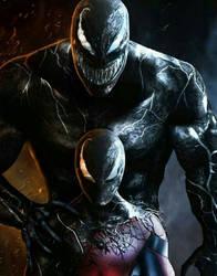Venom And Black Symbiote Spider-Man by XENORULES