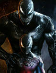 Venom And Black Symbiote Spider-Man
