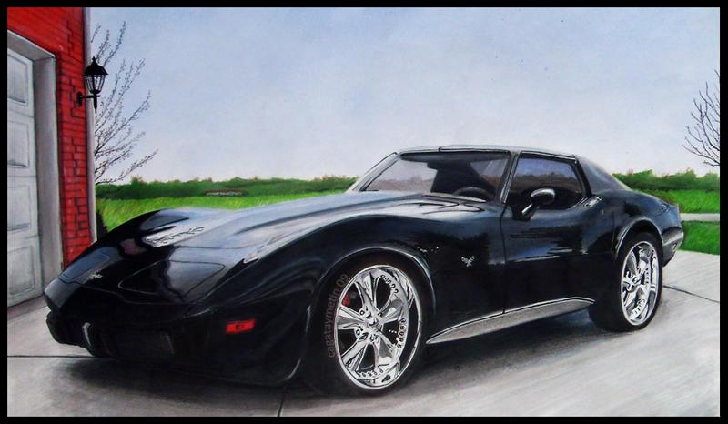 Fotorealistik Otomobil İllustrasyonu