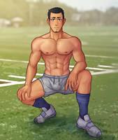 Football player by blueglueclue