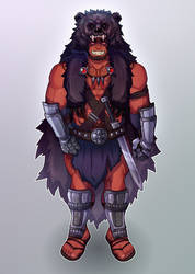 [CUSTOM] Red orc by blueglueclue