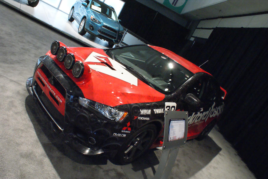 Lancer rally car by JoshuaCordova