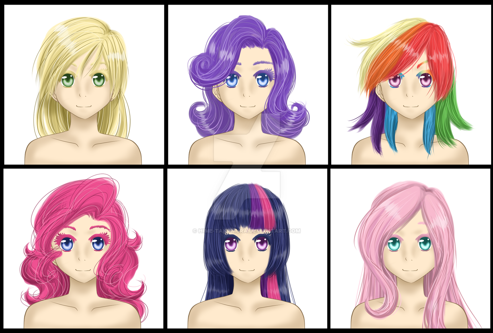Hair test (ponies?) by Hime-Takamura