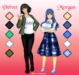 [Commission] Velvet and Morgan ref by Hime-Takamura