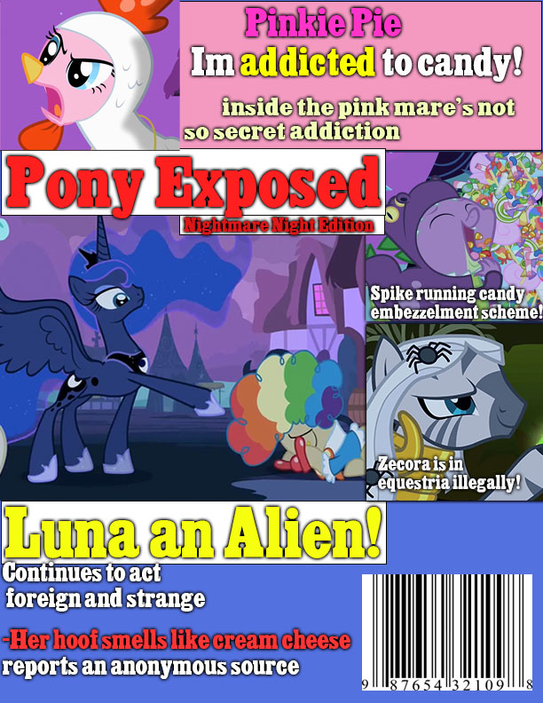 Pony Exposed- Nightmare Night Edition by eternaluprising4