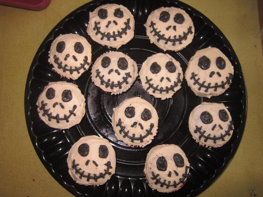 Jack Skellington Cupcakes by XxBlackbubblesxX on DeviantArt