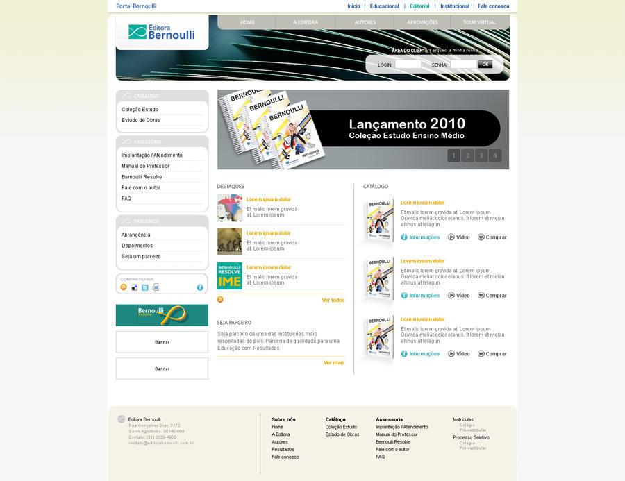 Novo portal Editora Bernoulli by RenanRotondo