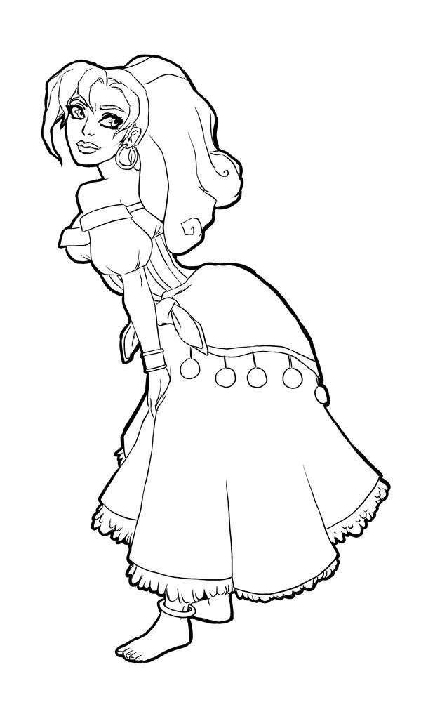 esmeralda coloring pages - photo#4