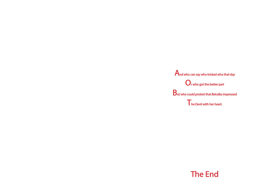 Betushka and the Devil ~ The End by quotidia