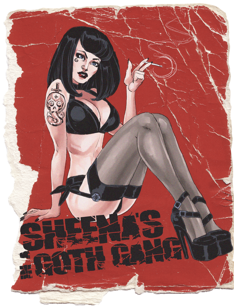 Sheena's in a Goth Gang by quotidia