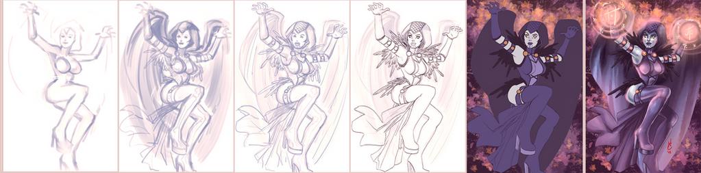 Raven Progress by quotidia