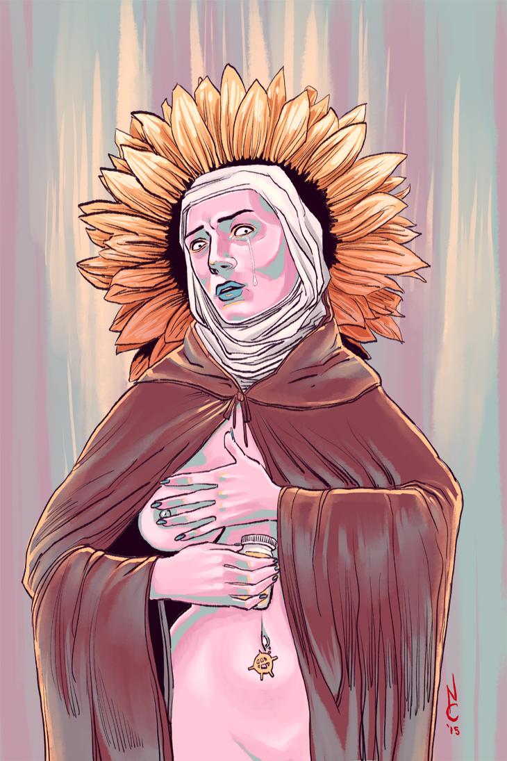 Saint Bernadette by quotidia