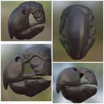 Black cockatoo mask render