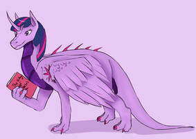 Twilight Sparkle Dragon by DragonCuali