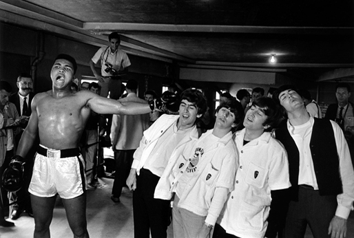 Muhammad Ali with the Beatles by wesker007