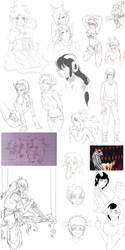 general tomfoolery sketchdump by W-Gray