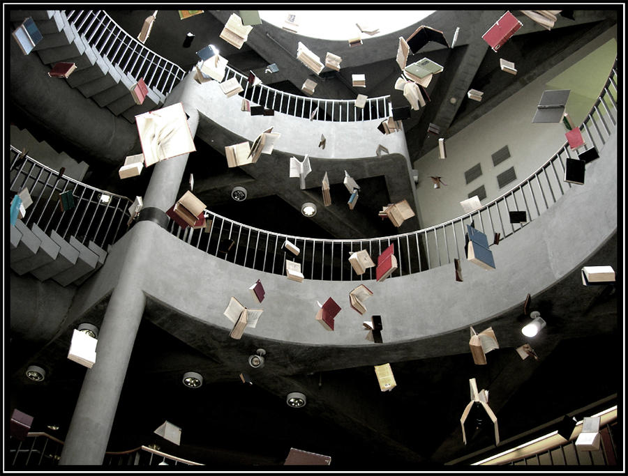 flying books: freedom to read by knows-flower