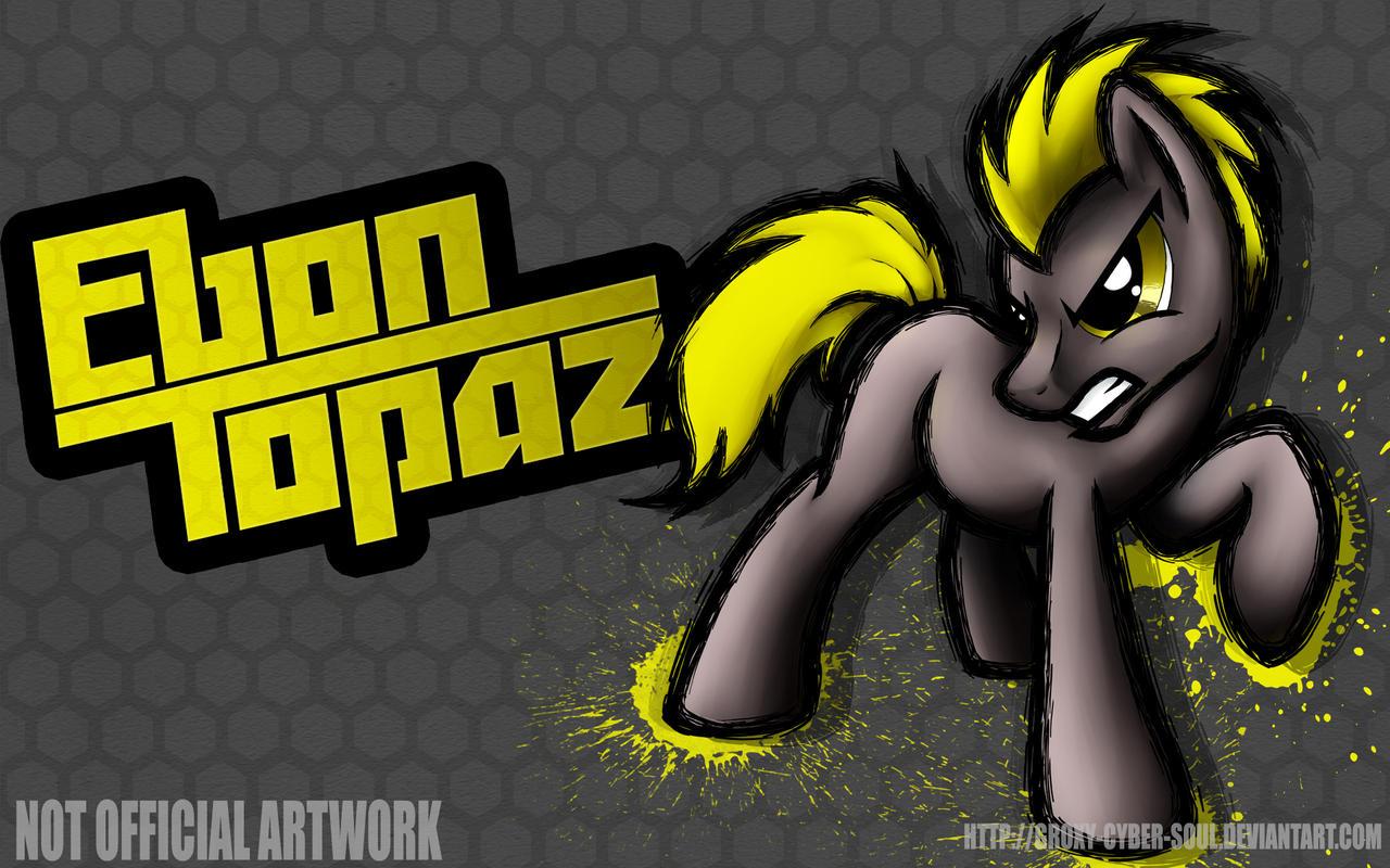 Commission: Fighting is Magic - Ebon Topaz by Groxy-Cyber-Soul