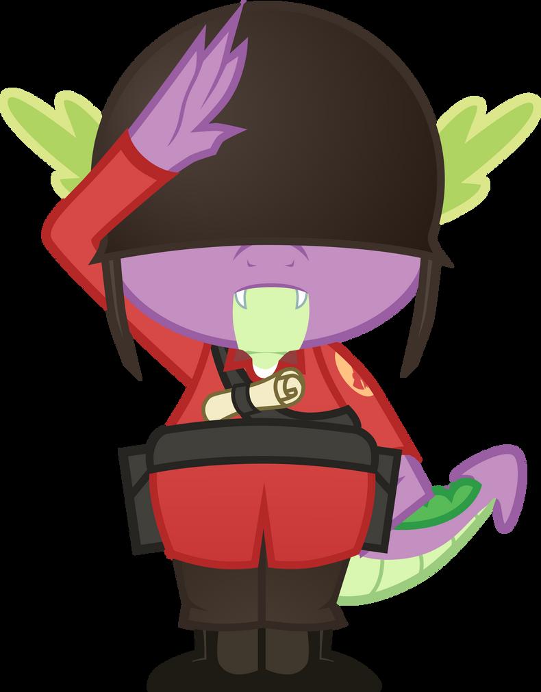 Spike-Soldier Salute by Groxy-Cyber-Soul