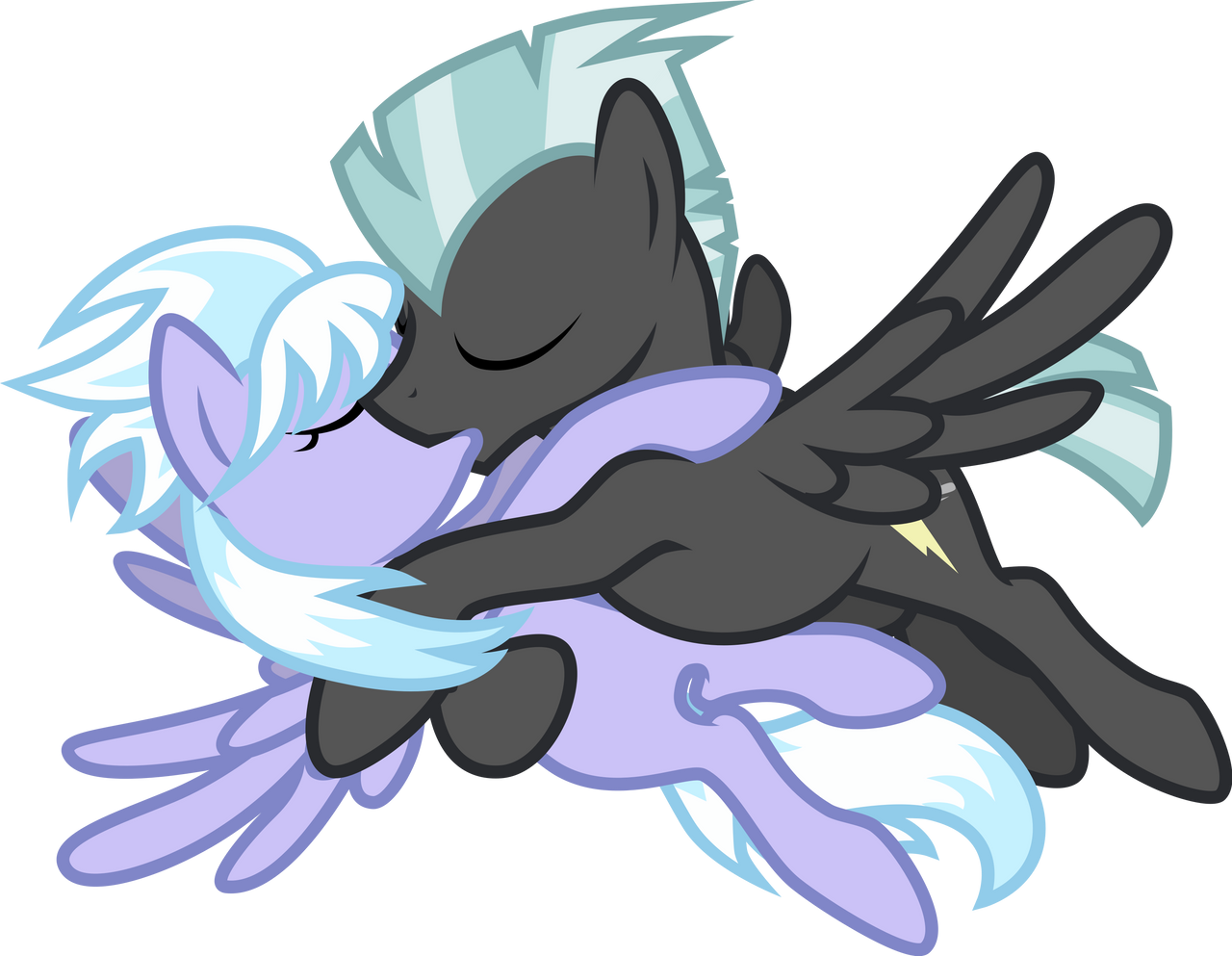 Thunderlane and Cloudchaser by Groxy-Cyber-Soul