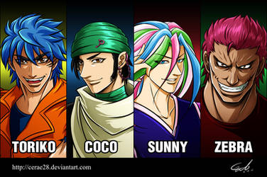 The 4 heavenly kings by cerae28