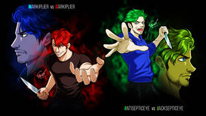 The Dark Side (Markiplier, Jacksepticeye fan art) by cerae28