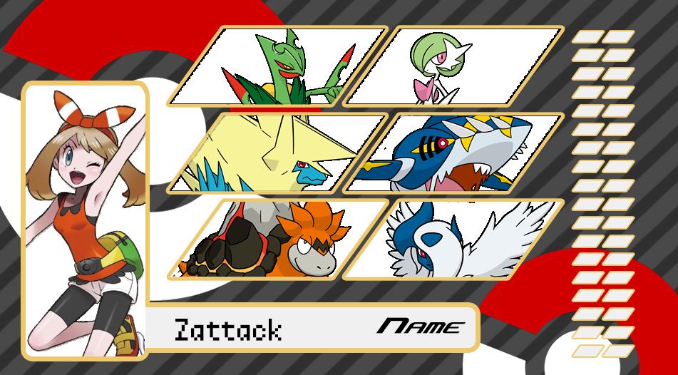 Zattack Trainer Card-Pokemon OmegaRuby by asuka-S