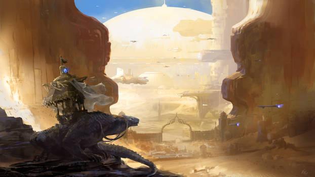 Gate to the desert