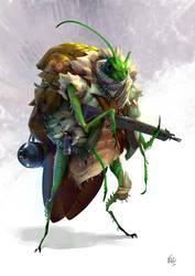 Bug Warrior by Rukkits