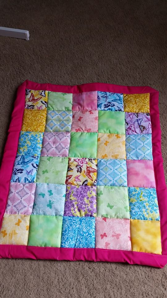 Patchwork Quilt First Attempt by kizgoth