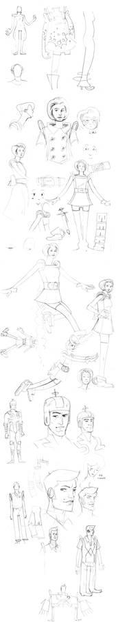 True Hi-School Sketches.