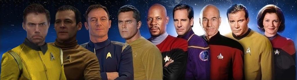 All Captains on Startrek with not michael burnham by kingsirluke on