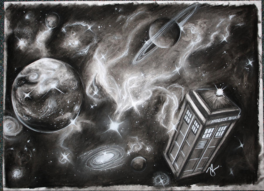 http://www.deviantart.com/art/Doctor-Who-Tardis-in-charcoal-216255112