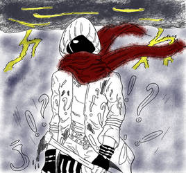 The mysterious red scarf