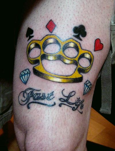 brass knuckles tattoo by lowkey704 on deviantart. Black Bedroom Furniture Sets. Home Design Ideas