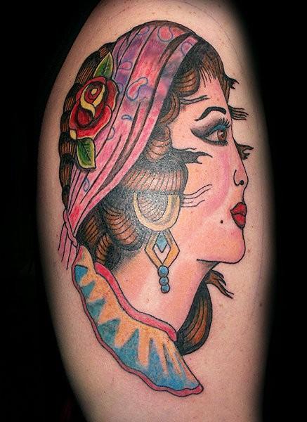 Vintage Gypsy Tattoo Vintage gypsy 22 by lowkey704Vintage Gypsy Tattoo