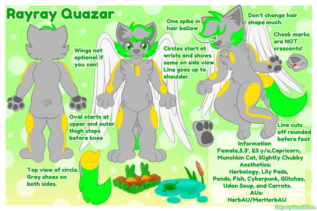 Rayray Quazar Reference Sheet 2020