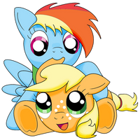 AppleDash Fillies by Autumn-Plains