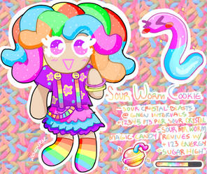 cookie run oc: sour worm cookie