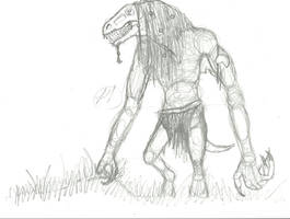 swamp troll WIP by sneezydragon